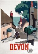 Devon. Great Western Railway Vintage Travel poster by Frank Newbould. 1939